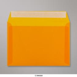162x229 mm (C5) Orange Transparent Briefumschlag, Orange, Haftklebend - Verschluss
