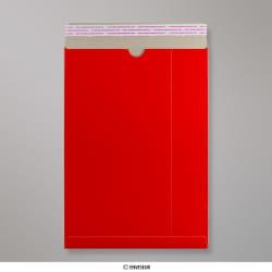 457x330 mm (C3) Enveloppe rouge tout en carton, Rouge, Auto-adhésive avec Bande Détachable