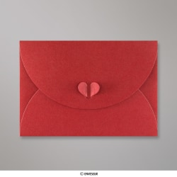 162x229 mm (C5) Kardinálovo-červená Motýliková Skladaná Obálka