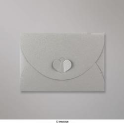 114x162 mm (C6) Zilver Vlinder Envelop