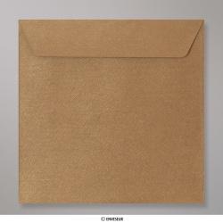 130x130 mm envelope com textura - bronze