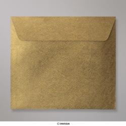 Sobre Con Textura Verde Dorado Brillante de 130x130 mm, Verde con Lustre Dorado, Autoadhesivo