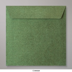 130x130 mm envelope com textura - verde floresta