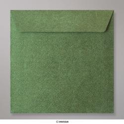 130x130 mm Enveloppe à Grains Verte Foncée, Verte Foncée, Auto-adhésive avec Bande Détachable