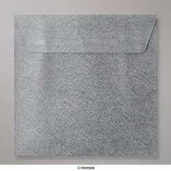 Sobre Con Textura Gris Oscuro Brillante de 130x130 mm, Gris Oscuro, Autoadhesivo