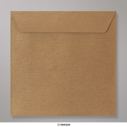 155x155 mm envelope com textura - bronze