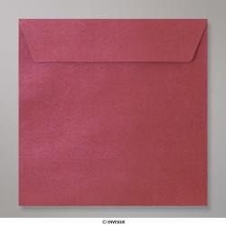 155x155 mm envelope com textura - vinho tinto