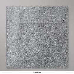 Sobre Con Textura Gris Oscuro Brillante de 155x155 mm, Gris Oscuro, Autoadhesivo