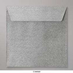 155x155 mm Enveloppe à Grains Argentée, Argentée, Auto-adhésive avec Bande Détachable