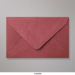 62x94 mm envelope com textura - vinho tinto