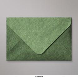 Sobre Con Textura Verde Bosque Brillante de 62x94 mm, Verde Bosque, Engomado