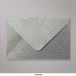 62x94 mm envelope com textura - prata