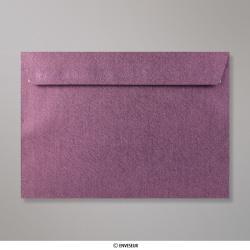 162x229 mm (C5) Enveloppe à Grains Amarante, Amarante, Auto-adhésive avec Bande Détachable