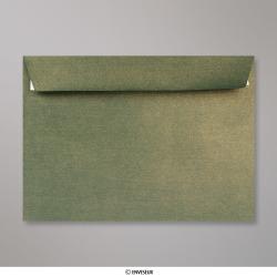 Sobre Con Textura Verde Dorado Brillante de 162x229 mm (C5), Verde con Lustre Dorado, Autoadhesivo