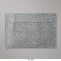 162x229 mm (C5) Stredne šedá štruktúrovaná obálka