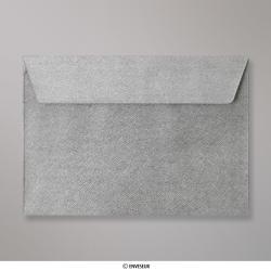 Sobre Con Textura Plateado Brillante de 162x229 mm (C5), Plateado, Autoadhesivo