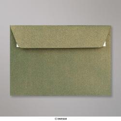 114x162 mm (C6) Enveloppe à Grains Verte Champagne, Verte Champagne, Auto-adhésive avec Bande Détachable