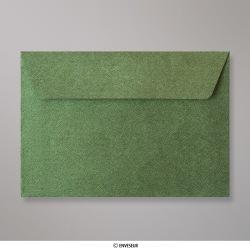 114x162 mm (C6) envelope com textura verde floresta