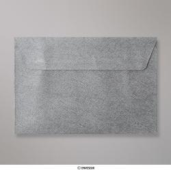 114x162 mm (C6) Enveloppe à Grains Grise Foncée, Grise Foncée, Auto-adhésive avec Bande Détachable