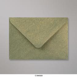 Sobre Con Textura Verde Dorado Brillante de 82x113 mm (C7), Verde con Lustre Dorado, Engomado
