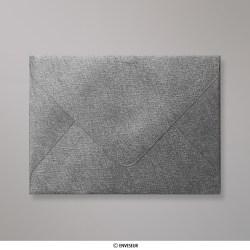 82x113 mm (C7) Stredne šedá štruktúrovaná obálka