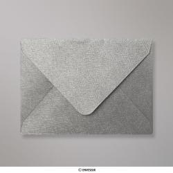82x113 mm (C7) Zilverkleurige structuurenvelop