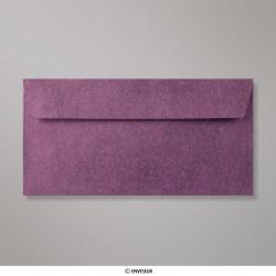 Sobre Con Textura Amaranto Brillante de 110x220 mm (DL), Amaranto, Autoadhesivo