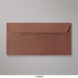 110x220 mm (DL) Enveloppe à Grains Bronze Dorée, Bronze Dorée, Auto-adhésive avec Bande Détachable