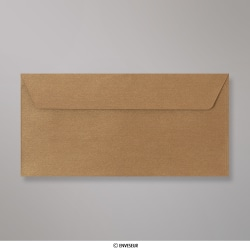 110x220 mm (DL) envelope com textura - bronze