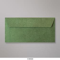 Sobre Con Textura Verde Bosque Brillante de 110x220 mm (DL), Verde Bosque, Autoadhesivo