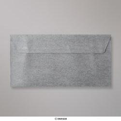 110x220 mm (DL) envelope com textura - cinzento médio