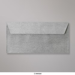 110x220 mm (DL) envelope com textura - prata