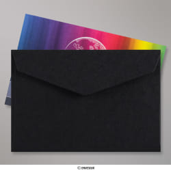62x94 mm Black V-flap Peel & Seal Envelope
