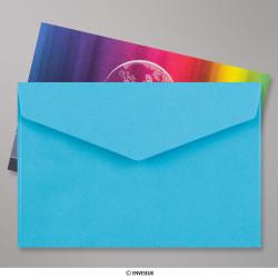 62x94 mm Enveloppe Bleue Patte Triangulaire Avec Bande Adhésive, Bleu, Auto-adhésive avec Bande Détachable