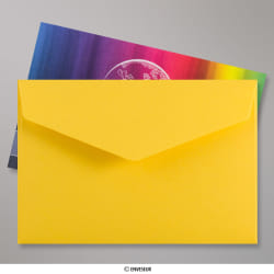62x94 mm Dark Yellow V-flap Peel & Seal Envelope