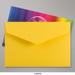 62x94 mm Dunkelgelb Briefumschlag mit Spitzer Klappe, Haftklebend, Dunkelgelb, Haftklebend