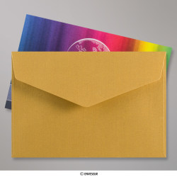 62x94 mm Gold V-flap Peel & Seal Envelope