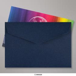 62x94 mm Marineblau Briefumschlag mit Spitzer Klappe, Haftklebend, Marineblau, Haftklebend