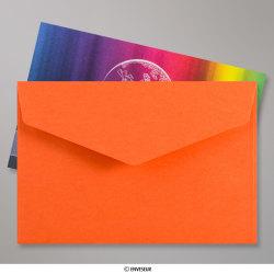 62x94 mm Orange Briefumschlag mit Spitzer Klappe, Haftklebend, Orange, Haftklebend