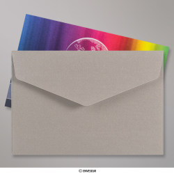 62x94 mm Silber Perlglanz Briefumschlag mit Spitzer Klappe, Haftklebend, Silber, Haftklebend