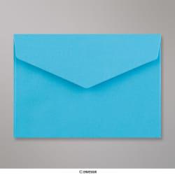 114x162 mm (C6) Envelope com aba em pico - azul