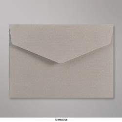 114x162 mm (C6) envelope com aba em pico - Prata
