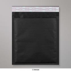 165x165 mm Sachet à bulles en Kraft noir, Noir, Auto-adhésive avec Bande Détachable