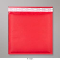 Bolsa Acolchada Con Burbujas Roja de 165x165 mm, Rojo, Autoadhesivo