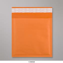 230x230 mm Oranžová bublinková obálka z kraftového papiera