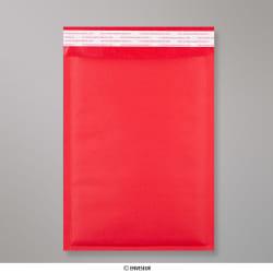 250x180 mm Rood Gekleurd Kraft Bubbel Tasje