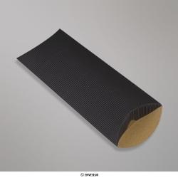 220x110+30 mm (DL) Boîte en carton striée noire, Noire, Non gommé