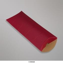 220x110+30 mm (DL) Boîte en carton striée rouge, Rouge, Non gommé