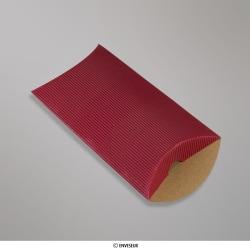 162x114+30 mm (C6) caixa almofada com Ondulação - vermelho