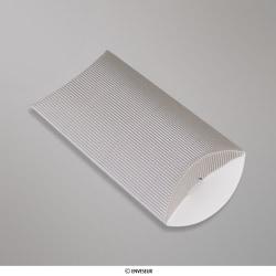 162x114+30 mm (C6) caixa almofada com Ondulação - prata